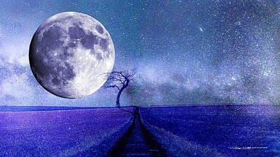 Digital Art - Moontree by Roger Lighterness