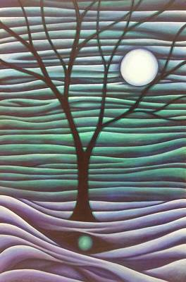 Wall Art - Painting - Moontree by Shiya Stone