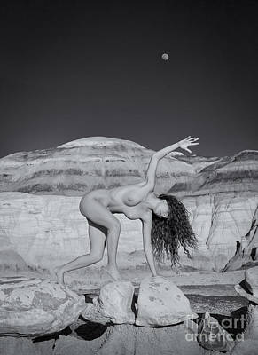 Fine Art Nude Figure Study Photograph - Moonwalk by Inge Johnsson