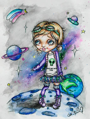 Painting - Moonwalker by Lizzy Love