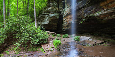 Photograph - Moore Cove Falls Panorama by Ranjay Mitra