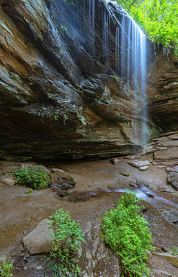 Photograph - Moore Cove Trail Waterfall In North Carolina by Ranjay Mitra
