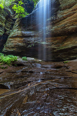 Photograph - Moore Cove Waterfall In Pisgah National Forest by Ranjay Mitra