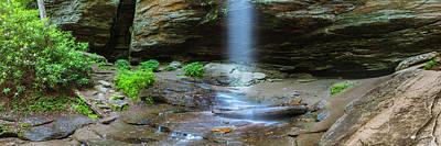 Photograph - Moore Cove Waterfall Panorama by Ranjay Mitra