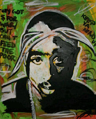 Painting - Moore Shakur by Antonio Moore