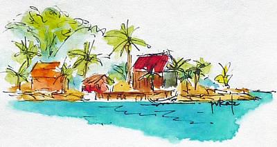 Painting - Moorea Lagoon 2 by Pat Katz