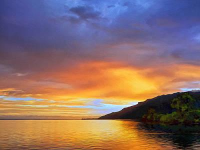 Rurutu Painting - Mo'orea Sunrise by Dominic Piperata