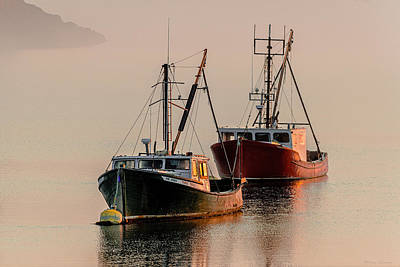 Photograph - Moored At First Light by Marty Saccone