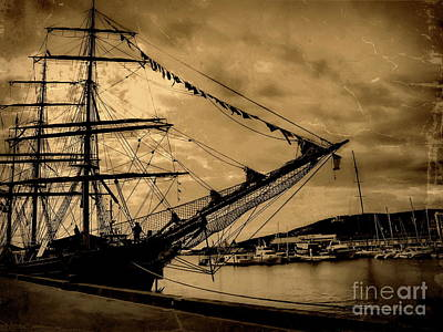 Photograph - Moored At Hobart V by Tim Richards