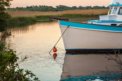 Photograph - Moored Boat by Brian MacLean