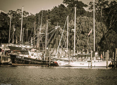Photograph - Moored Boats In Watson Bayou 2 by Debra Forand
