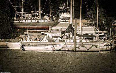 Photograph - Moored Boats In Watson Bayou by Debra Forand