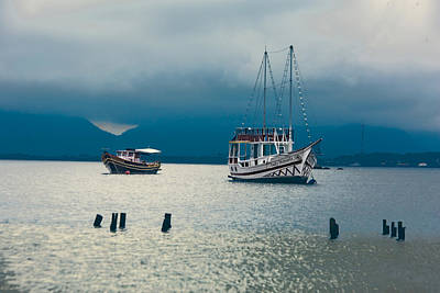 Photograph - Moored Boats by Kim Wilson