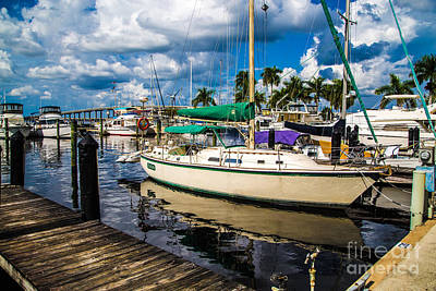 Yacht Photograph - Moored Craft 4 by J Darrell Hutto