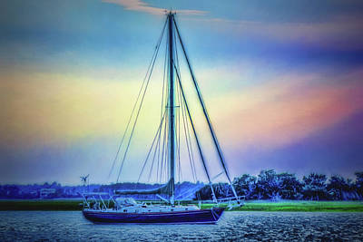 Photograph - Moored Cutter by Barry Jones
