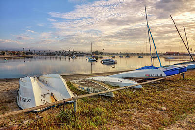 Missions San Diego Photograph - Moored In Mission Bay by Joseph S Giacalone
