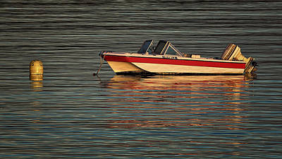 Photograph - Moored Motorboat by Stuart Litoff