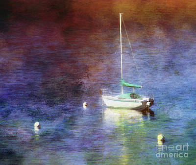 Photograph - Moored Sailboat by Clare VanderVeen