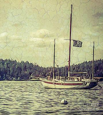 Photograph - Moored by William Wyckoff