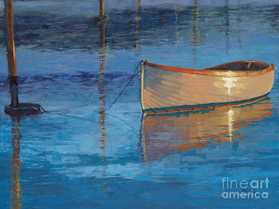 Painting - Moored In Light-sold by Nancy Parsons
