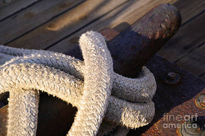 Photograph - Mooring Rope by Linda Shafer
