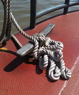 Photograph - Mooring Rope by Mamie Greenfield