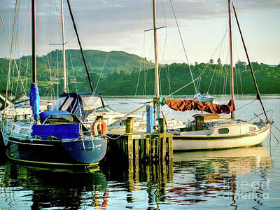 Photograph - Moorings Lake Windemere by Lance Sheridan-Peel