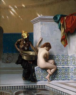 Painting - Moorish Bath by Jean Leon Gerome