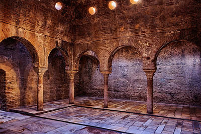 Bathhouse Photograph - Moorish Baths Granada by Joan Carroll