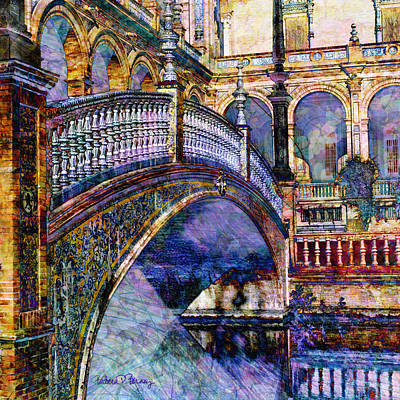 Moorish Digital Art - Moorish Bridge by Barbara Berney