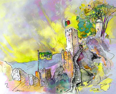Painting - Moorish Castle In Sintra 01 by Miki De Goodaboom