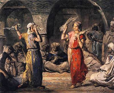 Moorish Digital Art - Moorish Dancers by Theodore Chasseriau