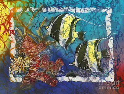Sealife Painting - Moorish Idols by Sue Duda