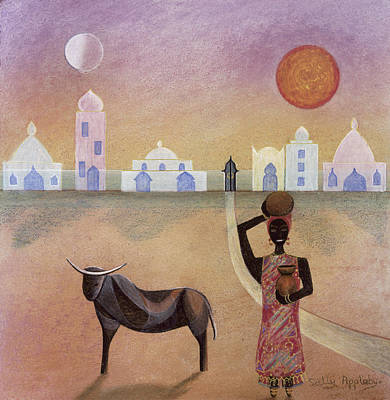Moorish Ox Art Print by Sally Appleby