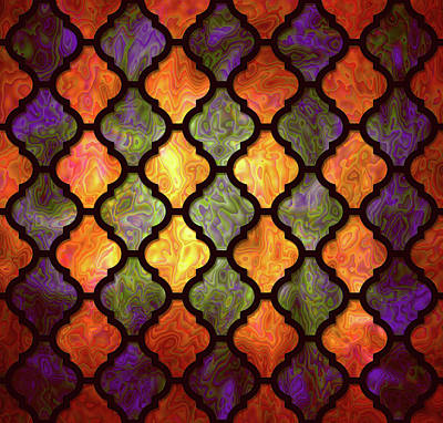 Digital Art - Moorish Pattern by Lilia D