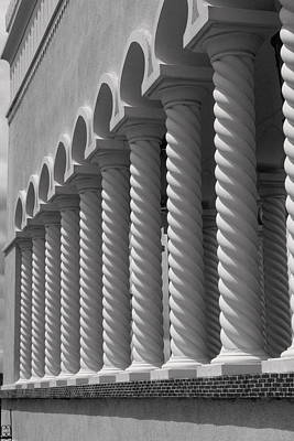 Moorish Pillars Spain Art Print by Douglas Pike