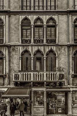 Photograph - Moorish Style Windows Venice Monotone_dsc1450_02282017 by Greg Kluempers