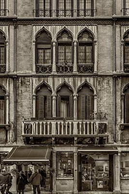 Photograph - Moorish Style Windows Venice Monotone_dsc1450_02282017 by Greg Kluempers