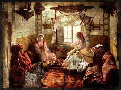 Photograph - Moorish Women - Remastered by Carlos Diaz