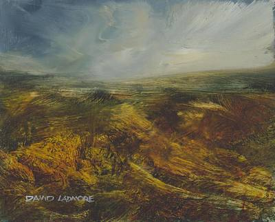 Windblown Painting - Moorland 71 by David Ladmore