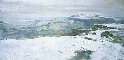 Winter Scenes Painting - Moorland by Charles Hardaker