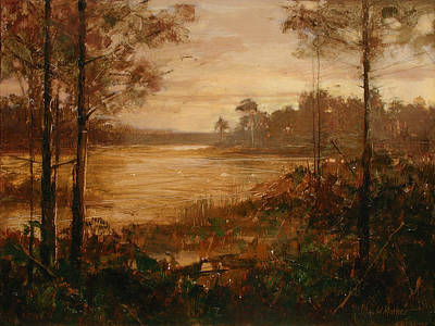 Moorlands At Dusk Art Print by Bill Mather