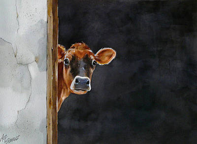 Painting - Moo's There? by Art Scholz