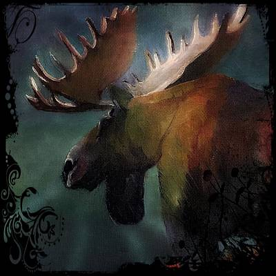 Painting - Moose Art by Michele Carter
