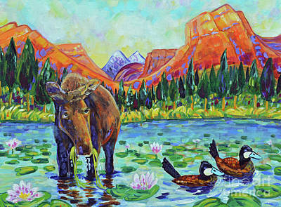 Wyoming Painting - Moose Country by Harriet Peck Taylor