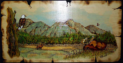Moose Country Art Print by Kenneth Lambert