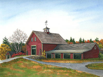 Moose Hill Barn, Mack's, Londonderry, Nh Art Print by Elaine Farmer