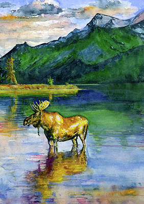 Painting - Moose In Canada by John D Benson