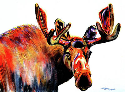 Painting - Moose In Orange by Tracy Rose Moyers