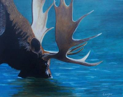 Painting - Moose Lake by Jean Yves Crispo
